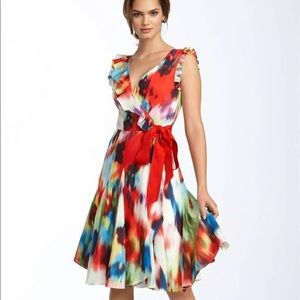 Gorgeous, Vibrant Ted Baker Silk Wrap Dress